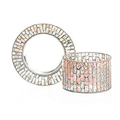 Yankee Candle Romance - Paralume e piatto, in vetro, oro/pastello/blu/rosa, 16,5 x 16,5 x 14 cm, 2 unità