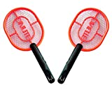 SUPER TOY Rechargeable Mosquito Insect Killer Racket/Bat (Multi-Color) - Pack of 2