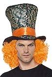 Smiffy's-45216 Sombrero de Copa,, Pelo Incorporado, Multicolor, Tamaño único (45216)