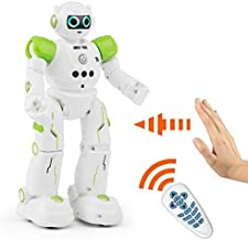 BTG JJR/C R11 Cady Wike Smart Remote Control Robot Gesture Sensor Touch Control - Walks in All Direction, Slides, Turns Around, Dances, Entertainment Christmas Gift, Toy for Kids Boys/Girls (Green)