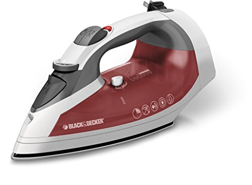 Black & Decker ICR07X Xpress Steam Cord Reel Iron, White/Red