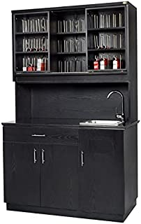Beauty Salon Color Bar Coloring Station With Sink And Color Storage - Granite