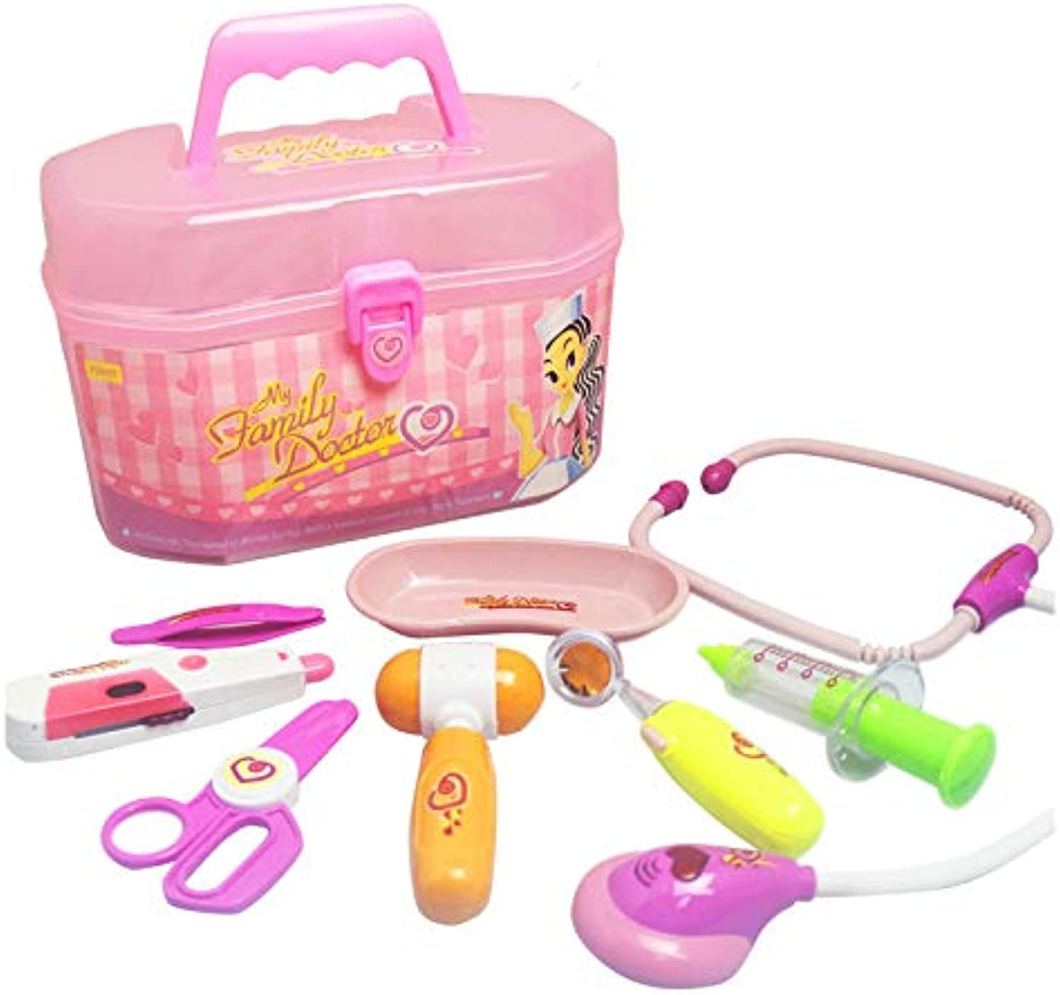 Laliva Learning & Education - Kids Pretending Doctor's Medical Playing Set Case Education Kit Boys Girls Toys - (color  Pink)