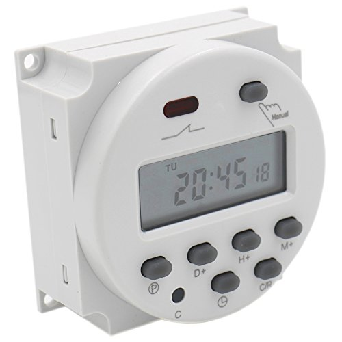 Heschen Digital LCD Power Weekly Programable Temporizador Relé Interruptor CN101A DC 12V 16 Amperios SPST