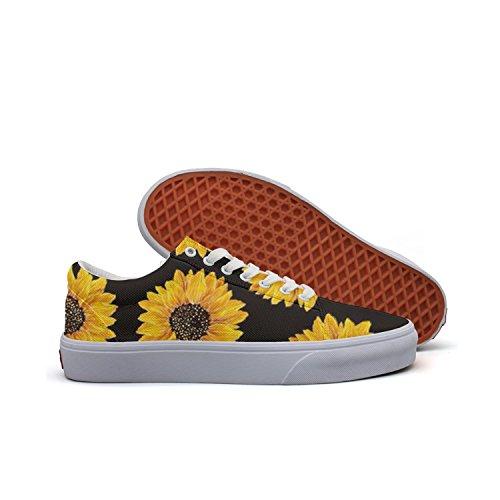 Tênis feminino Milner Gilese Sunflower com cadarço e cadarço, Beautiful Yellow Sunflowers, 8.5