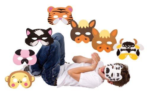 Lot de masques animaux pour enfant