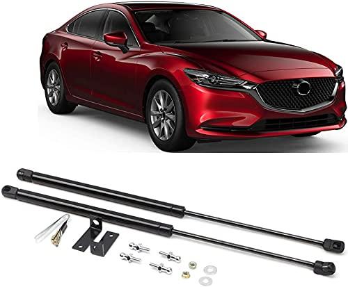 2 Stück Motorhauben Gasfeder für Mazda 3 M3 Axela 2019 2020 2021, Motorhaubenstütze Gasdruckfeder Motorhaube, Haubenhubstange Hydraulikstange Unterstützung Zubehör