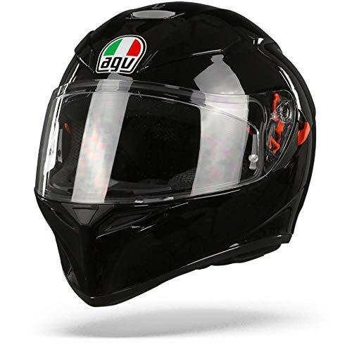 AGV 0301A4MY_003_S K3 SV Solid Casco Moto Integral, Negro, S