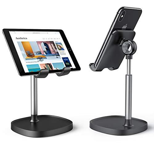 LISEN Handy Ständer, Winkelhöhe Verstellbar Stabiler Tablet Halterung Tisch, Handyhalter Tisch Ständer, Tablet Ständer kompatibel mit Handy/iPad Mini/iPhone/Samsung/Huawei,4-8 Zoll