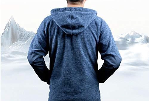 llzshoutao Veste militaire pour homme - Veste polaire chaude et coupe-vent - Pour l'automne et l'hiver - Grand pull @535 Blueberry Blue (04161106) AL