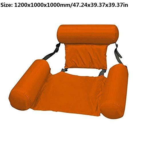 GPQHSM Bikini Été Gonflable Flottant Ligne Air Matelas Lit Dossier Piscine deau Hamac Tapis Jouets for lextérieur Accessoires de Plage Piscine (Color : Orange)