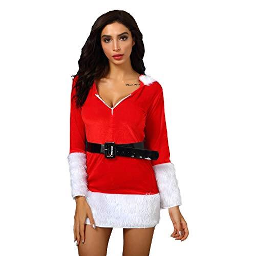 Sexy Piebo Outfit Weihnachtskostüm mit Cape 2-teiliges Piebo Frauen Weihnachtsmann Kleider Miss Santa Kostüm Set Party Karneval Festival Kleid Christmas Cosplay Negligee Mini Kleid Weihnachtsmütze