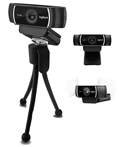 Logitech C922 Pro Stream 1080P HD Camera Webcam with Tripod for Game Streaming