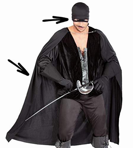 Kostuum Zorro masker + capuchon