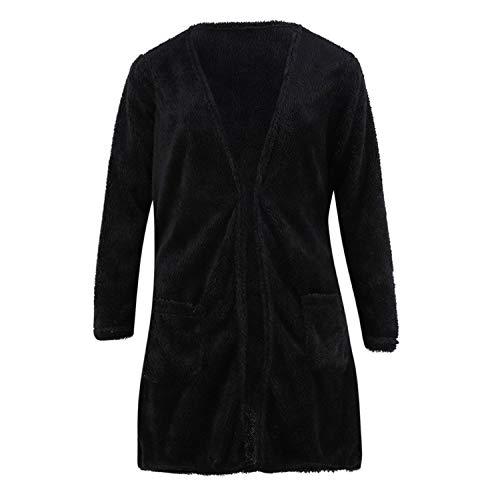 Vrouwen Trui Cardigan Casual Effen Winter Warm Wol Zakken Vrouwen Jas Bovenkleding Truien