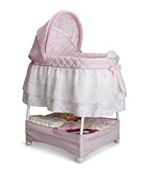 top rated Children's Delta Sliding Bedside Baby Bed – Portable Bed with Light, Sound, Vibration, Disney… 2021