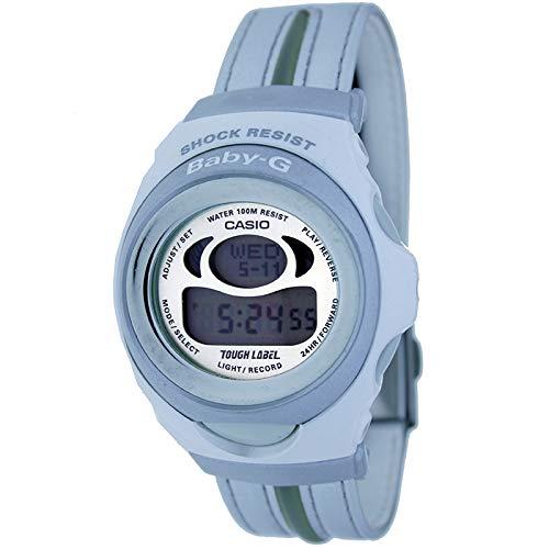 Casio Bgm-201dt-8v Reloj Digital para Mujer Colección Baby-g Caja De Resina Esfera Color Gris