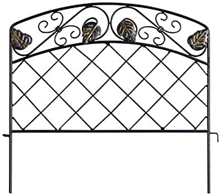 Panacea 89395 Scroll & Ivy Garden Edge, Black, 16
