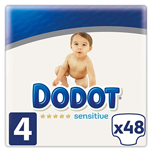 Dodot Sensitive - Pañales Talla 4, 48 Pañales, 9 a 14 kg
