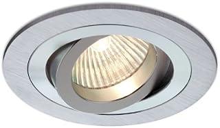 Empotrable Aluminio cepillado, circular y basculante (Haló