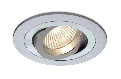 Empotrable Aluminio cepillado, circular y basculante (Halóg