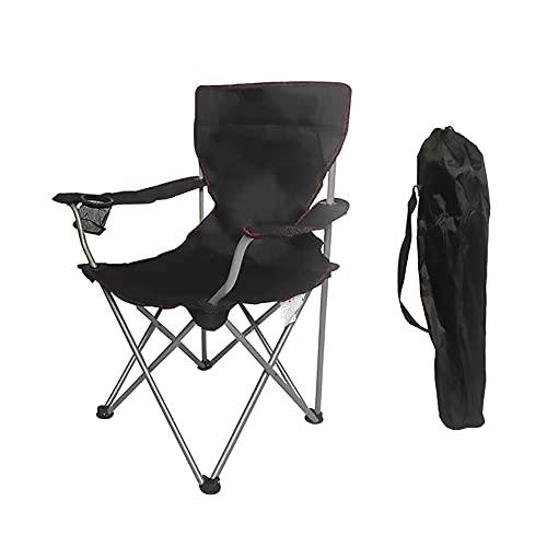 WANBAOAO Portátil Silla de Camping al Aire Libre Sillas de Campamento Plegable portátil - sillas portátiles con Titular y Bolsa Acampar, Festivales, jardín, Viajes de Caravana, Pesca, Playa y Bar