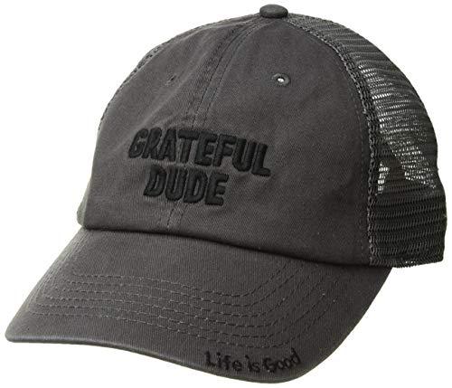 Life Is Good Trucker-Hut mit weicher Netzstoff-Ballkappe, Unisex-Erwachsene, Soft Mesh Back Grateful Dude, Grateful Dude Schiefergrau, One Size