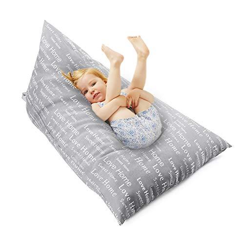 X-Large Sofabezug Aufbewahrung Sitzsack Organizer für Plüschtier Kleidung Handtücher Decken, Sitzsack Sitzstuhl, extra große Sitzsack gefüllte Aufbewahrung, für Kinder & Erwachsene Spielzeug