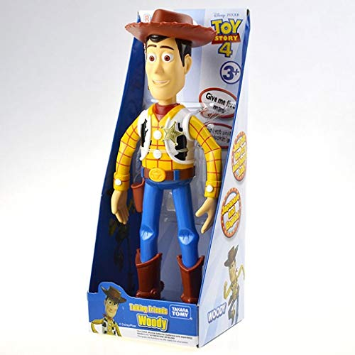 CQ Figura Toy Story 4 Sheriff Woody verdadera Hablar Acción (botón de Sonido), Carácter Posable Figura Regalo for los niños de 3 años Toys
