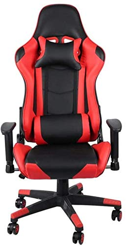 Gaming Stuhl Rennstuhl Home Office Computer Gaming Exklusive Swivel Leather Comfort Stuhl Bürostuhl Sessel (Color : Picture Color, Size : 70X70X127CM)