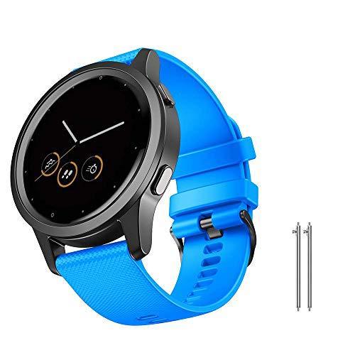 NotoCity Bracelet Vivoactive 4, Remplacement Bracelet de Montre de 22 mm pour Garmin Vivoactive 4(45 mm)/Gear S3 Frontière/Galaxy Watch Classic 46mm(Bleu Ciel Grand)