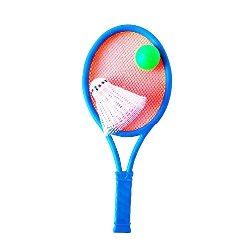BESPORTBLE - Set di racchette da tennis per bambini con palla in plastica, giocattoli per attività all'aria aperta, giochi da spiaggia, colore casuale