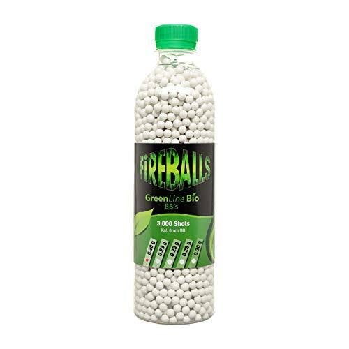 FireBalls Softairkugeln Green Line Bio BBS 0,20g 3.000er Flasche Weiss