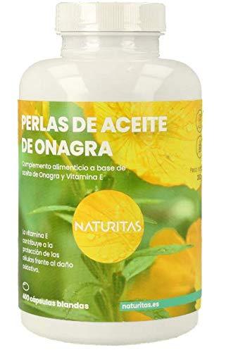 Perlas de Aceite de Onagra | 400 perlas | Combate síntomas pre-menstruación | Rico en vitamina E y GLA.