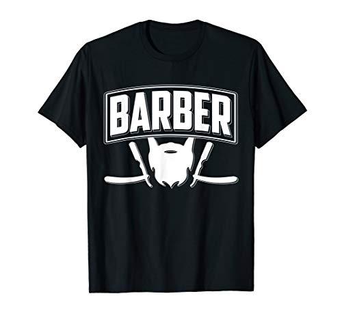 Herren Barber T-Shirt I Geschenk Barbier Bart Friseur I Bartfriseur