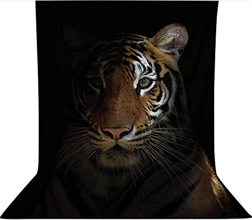 Fondo para estudio fotográfico de 1,2 x 1,8 m, telón de fondo de tela de microfibra King of Sundarbans, telón de fondo de tela, con bolsillo para barra (solo telón de fondo) para fiestas temáticas