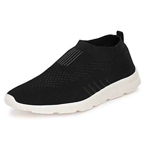 Bourge Men's Vega-1 Black Running Shoes-8 UK/India (42 EU) (Vega-1-Black-08)