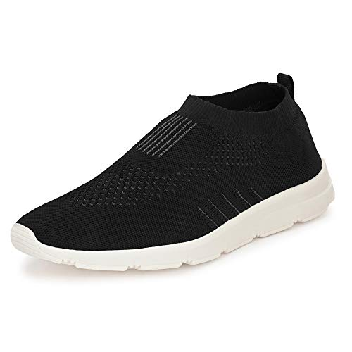 Bourge Men's Vega-Z1 Black Running Shoes-7 UK (Vega-1-Black-07)
