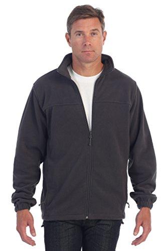 Gioberti Mens Full Zip Polar Fleece Jacket, Heather Charcoal, X-Large