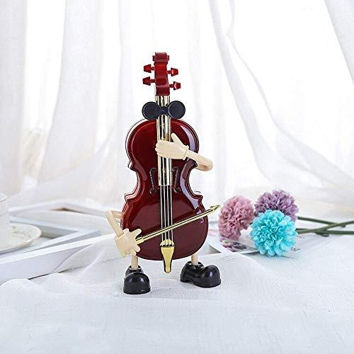 HUJPI Gitarre Spieluhren, Antike Musical Box für Geburtstagsfeier-Feriengeschenk Einzigartige Geschenke,Cello_Free