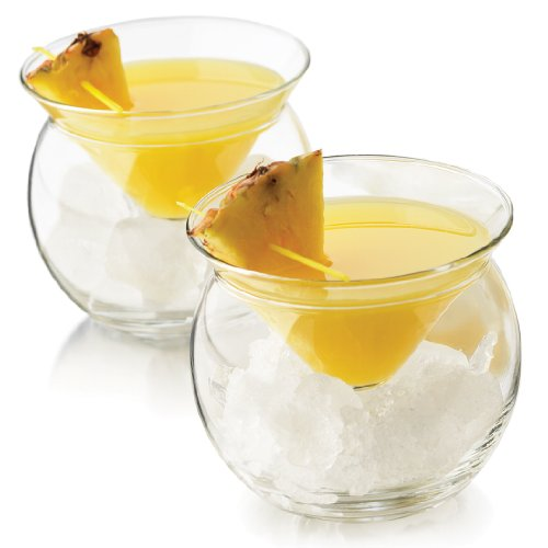 'World's Coldest' 2-Part Martini Chiller (Gift Box Set of 2)