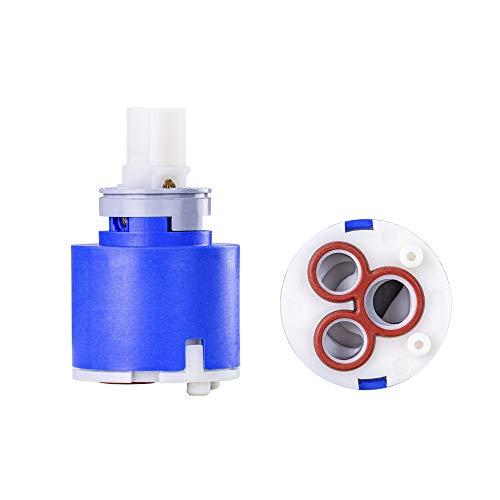 Cartucho de 35 mm HD KE azul de cerámica para grifo Blanco de alta presión equivalente a 121894 | cartucho de repuesto para grifos, grifo de cocina, cartucho blanco de 35 mm