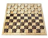 Engelhart - 150235-150236- Juego de ajedrez / Juego de Damas Madera de Abedul - 30 x 30 cm - Tablero de Juego de Madera Maciza - Juego Completo con Piezas - a Partir de 6 años (Damas)