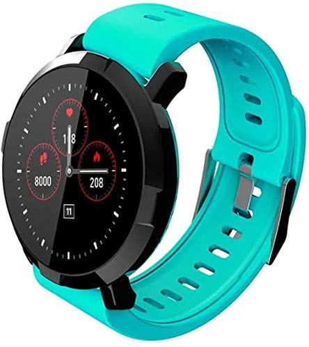 Bluetooth Fitness Tracker para hombres y mujeres, monitor de presión arterial y frecuencia cardíaca, resistente al agua, recordatorio sedentario reloj inteligente teléfono-verde
