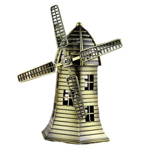 RQZQ Ornamenten Huis Vintage Mental Nederlandse Windmolen Ornament Creatieve Retro Nederlandse Windmolen Decoratie Ambacht Home Decor Gift Furnishing Model Miniatuur