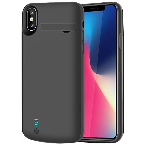 RUNSY Battery Case Compatible with iPhone X XS, 5000mAh Rechargeable...