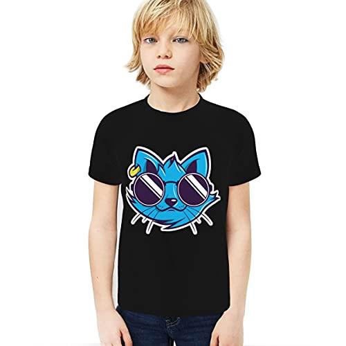 Cantoma Pegatinas Niño Camiseta 3D Impreso Camiseta De Viaje Viaje Estudiantesstickers Negro