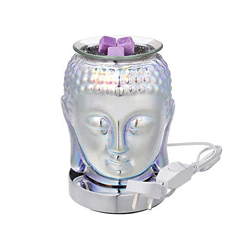 Quemador de Aceite eléctrico de Vidrio 3D, Nuevo Quemador de Cera eléctrico, Quemador de Cera de fusión, Calentador de fusión, Quemador de Aceite de Fragancia para el hogar, Oficina, Dormitorio, Sala