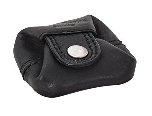 Gusti portamonete in pelle - Linus borsellino da uomo e da donna portamonete piccolo nero