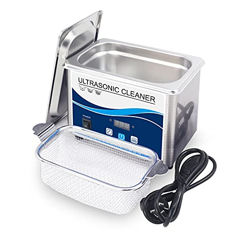 Limpiador ultrasónico profesional con temporizador digital para joyas, diamantes, gafas, gafas de sol, dentaduras y anillos